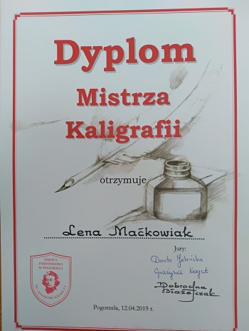 Dyplom Mistrza Kaligrafii