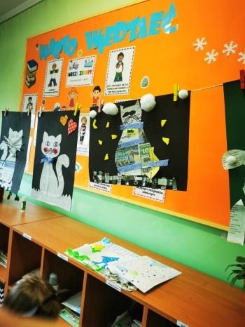 Wystawa kocich prac plastycznych wykonanych przez uczniów klasy IIa (2)