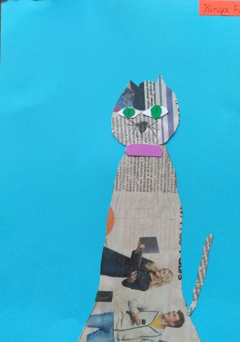 Kot Kingi Florkowskiej z klasy IIb