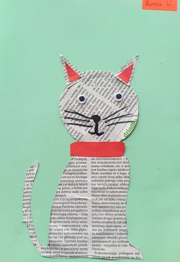 Kot Hanny Waligóry z klasy IIb