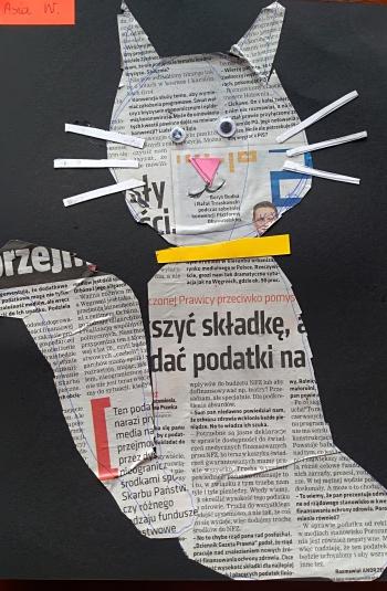 Kot Joanny Woźniak z klasy IIb