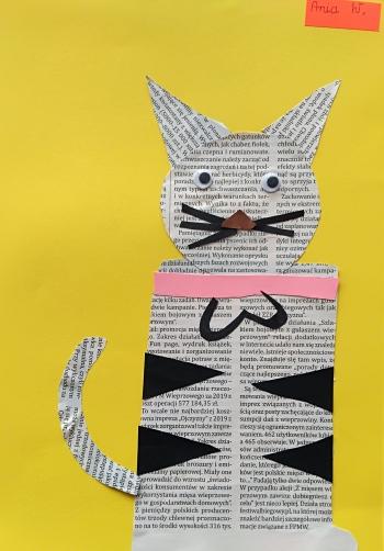 Kot Anny Wawrzyniak z klasy IIb