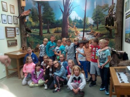 Lekcja przyrody w Izbie Leśnej Nadleśnictwa Piaski